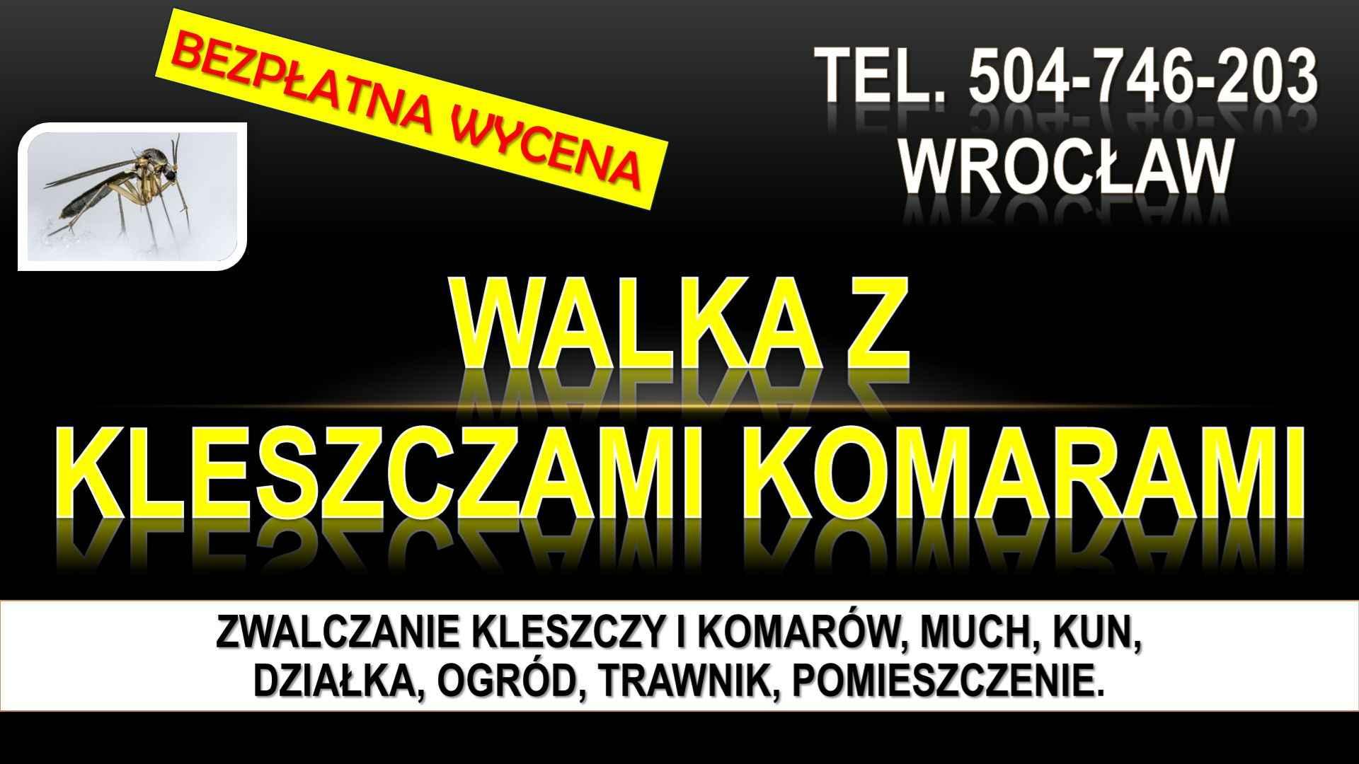 Zwalczanie kleszczy, cena, Wrocław, t504-746-203, Opryski, likwidacja. Psie Pole - zdjęcie 1