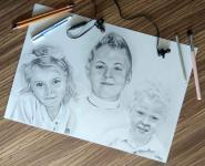 Portrety ze zdjęć na zamówienie format A4 Bukowsko - zdjęcie 1
