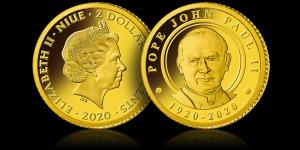najmniejsze złote monety Jan Paweł II Wierzbica Górna - zdjęcie 1