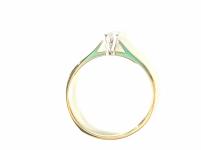 Pierścionek zaręczynowy złoty z diamentem YES z kolekcji Eternel r15,5 Mińsk Mazowiecki - zdjęcie 2