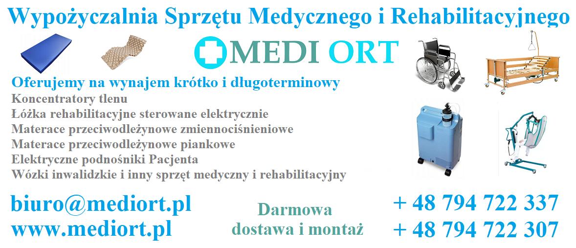 Koncentrator tlenu, łóżko rehabilitacyjne -wypożyczalnia Wrocław Psie Pole - zdjęcie 1