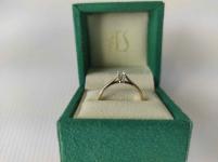 Pierścionek zaręczynowy złoty z diamentem YES z kolekcji Eternel r15,5 Mińsk Mazowiecki - zdjęcie 4