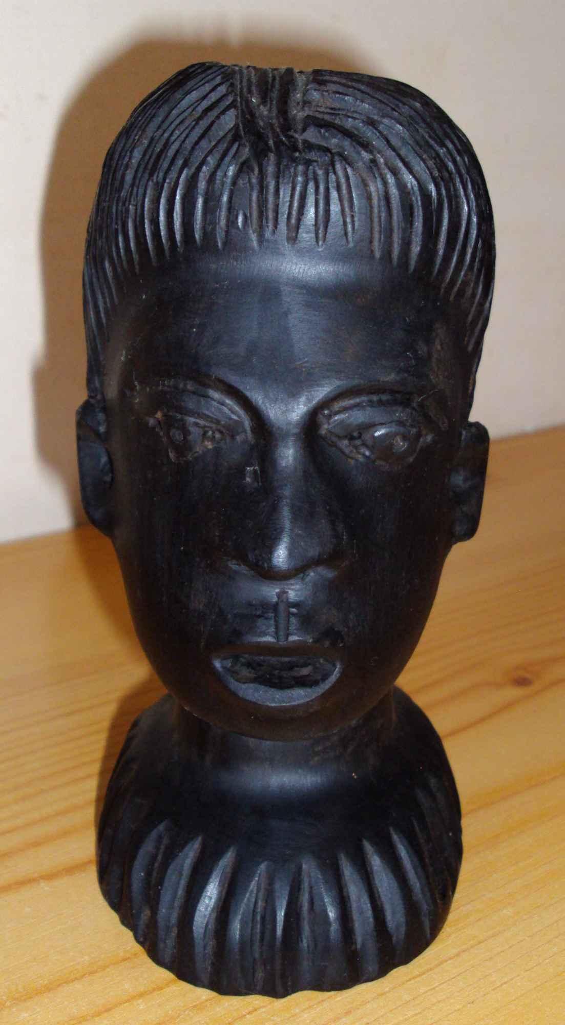 Sztuka afrykańska - 3 głowy z hebanu Śródmieście - zdjęcie 6