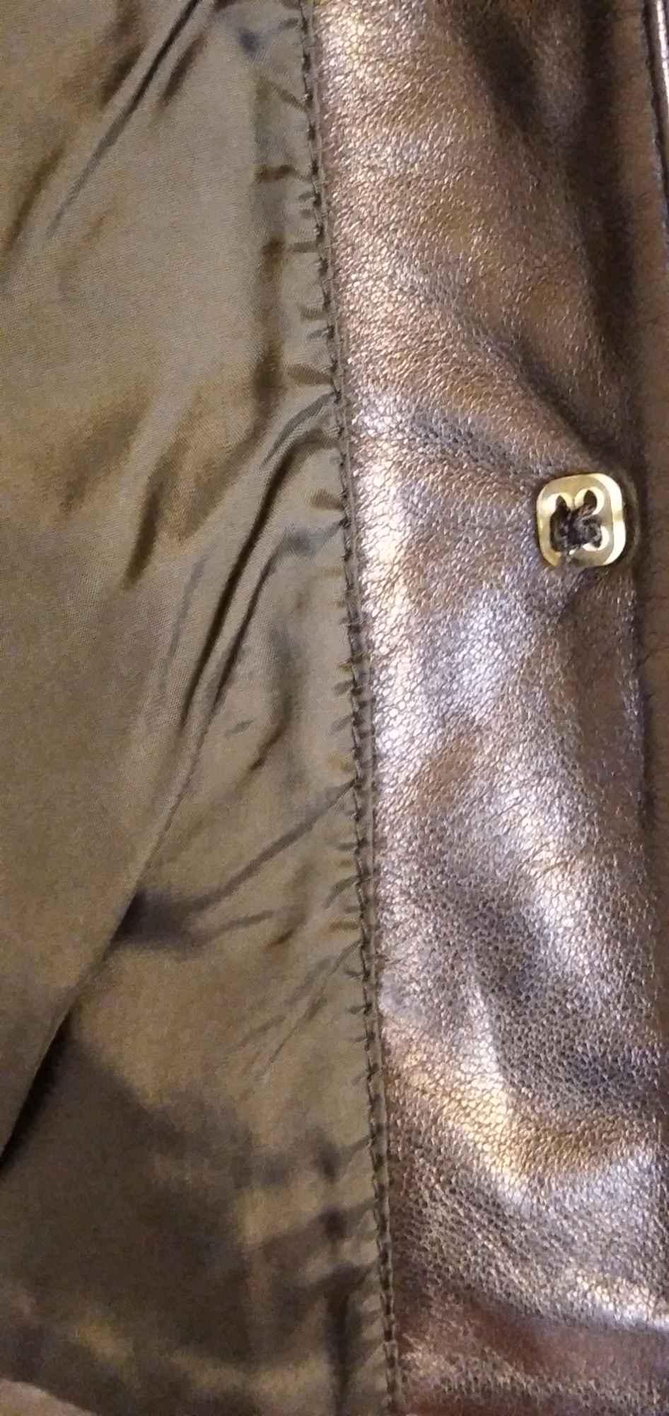 Sprzedam nową ,bordową ,skórzaną kurtkę damską Gdynia - zdjęcie 4